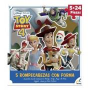 Rompecabezas con forma de 5 Personajes Toy Story 4