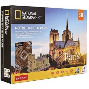 Rompecabezas 3D National Geographic City Travel Paris - Notre-Dame Con 120Pzs