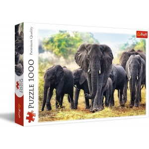 Rompecabezas Elefantes africanos  68.3 x 48 cm